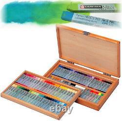 NEW Cray Pas 88pk Specialist Oil Square Pastels Wooden Box Set Full Stick Sakura