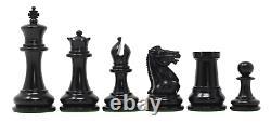 Nathaniel 1849 Antique Reproduction Vintage 3.75 Ebony/Box Wood Chess Set
