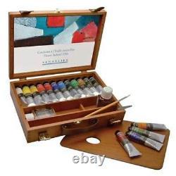 Oil painting oil paint set wooden box set gift tubes sennelier artist quality