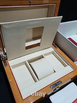 Omega brown wooden Watch Box 2,5kg Full Set as collection or gift or display box