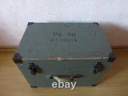 PA-39 RA-39 Rare Russian Aero Air Camera+ lens Uran 27 2.5/100 Set in Wooden Box