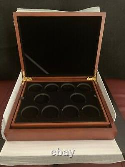 Queens Beast 2 oz Silver Coin Set & Wooden Presentation Box 9 Coins & Box