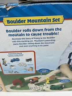 RARE Thomas & Friends Wooden Railway Train Boulder Mountain Set NEW Open Box