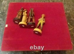 Rare Vintage Anri Far West Chess Set #71806 In Anri Wood Box Missing 7 Pieces