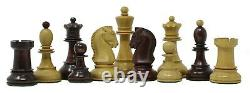 Reproduction 1950 Dubrovnik 3.75 Vintage Chess Set Box wood & Mahogany Stained