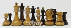 Reproduction 1950 Dubrovnik 3.75 in Distressed Box wood & Mahogany Stained Set