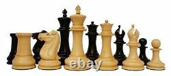 Reproduction Jaques Circa 1870-74 Staunton 4.4 Chess Set Box Wood & Ebony Wood