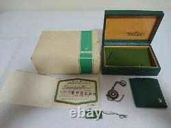 Rolex 1601 Vintage 1972 Watch Box Case 68.00.3 Set Certificate Green Tag 275986