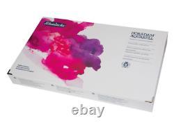 Schmincke Horadam Premium Artists Watercolors 140 Colors Half Pan Wooden Box Set
