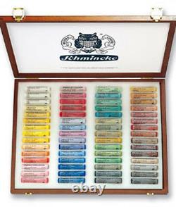 Schmincke Soft Pastel Set 60 Colours Wooden Presentation Box Set