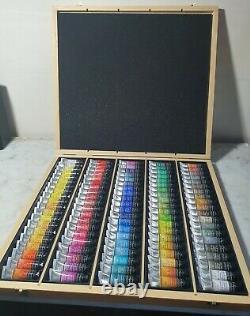 Sennelier L'Aquarelle Artists Watercolour Wooden Box Set of 98 x 10ml Tubes
