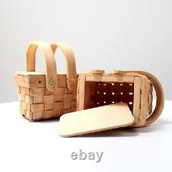 Set of 72 Miniature Woven Picnic Baskets Bridal Shower Wedding Favor Boxes