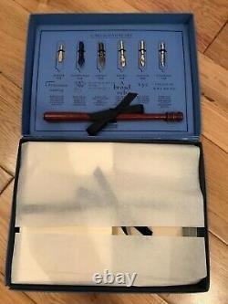 Smythson Of Bond St Vintage Calligraphy Nibs Pen Set + Paper & Envelopes Boxed
