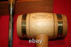 Stanley 150th Anniversary Collecto Chisel & Mallet Set In Wooden Box