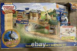 Thomas And Friends Wooden Railway Thomas Birthday Surprise Set RARE Damaged Box