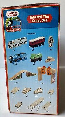 Thomas & Friends Edward The Great Boxed Set Wooden Railway Open Box