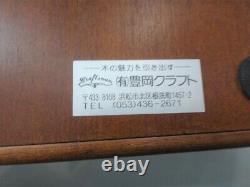 Toyooka Craft Wooden Display Box Fountain 15 Pen case Lid set Stationaty
