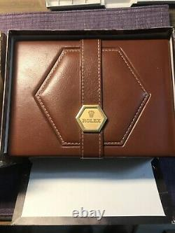 VINTAGE 80s Rolex OYSTER QUARTZ watch 55.00.01 boxcase. Rare complete Set