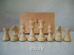 VINTAGE CHESS SET CHAVET B207A WEIGHTED STAUNTON PATTERN K 85mm PLUS ORIG BOX