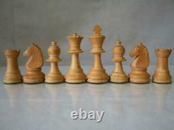 VINTAGE CHESS SET LOADED CHAVET TOURNAMENT STAUNTON PATTERN K 3.5 inch AND BOX