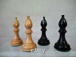 VINTAGE OR MODERN CHESS SET BOX WOOD STAUNTON PATTERN K 104 mm NO BOX NO BOARD