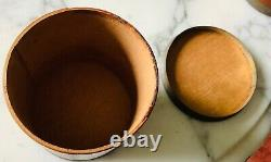 Very Early Original 1838 Round Wooden Shaker Type Spice Box Set 9 Wood Canisters