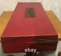 Vintage A. C. Gilbert Erector Set in Original Wooden Box THE NEW ERECTOR LQQK