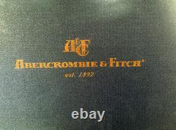 Vintage Abercrombie + Fitch Poker Chips Set in Wooden Gaming Box Case with Tray