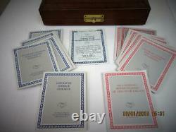 Vintage Franklin Mint Battle Of Waterloo Pewter Draughts Set+orig Box 1987