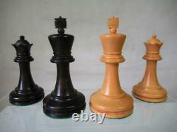 Vintage Jaques London Bicentenial Chess Set Staunton K 3.5 And Orig Box