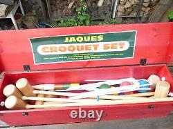 Vintage Jaques of London Edenbridge 6 Player Croquet Set With Wooden Box 71260