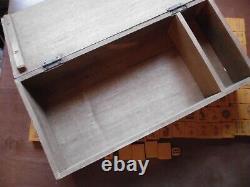 Vintage Mah Jong Mahjong Butterscotch Bakelite 144 Tile Wooden Boxed Set