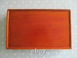 Vintage Mah Jong Set With 152 Bone & Bamboo Tiles In A Wooden Box Mah Jongg