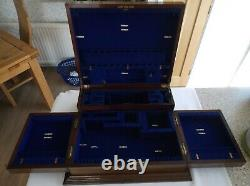Vintage Wooden (Mahogany) Cutlery Canteen/Box to Accommodate a 12 place Setting