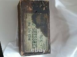 Vintage wooden chess set club box