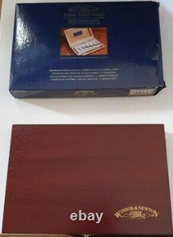 WINSOR & NEWTON Artists' Water Colour Wooden Box 12 Half PAN Painting SET