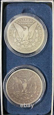 Wooden Box Set of 32 Morgan Silver Dollars 1880-1926